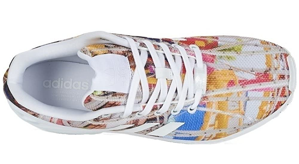 90f1b1bd7 Adidas - ZX Flux - S75492 - Color  Blue-White-Yellow - Size  7.5   Amazon.co.uk  Shoes   Bags