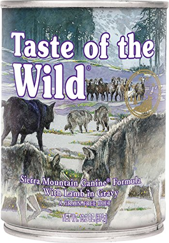 Taste of the Wild Sierra Mountain Lamb in Gravy Wet Dog Food Cans 12 Pack 13.2 Ounce. Ea. Fast Delivery Just Jak's Pet Market
