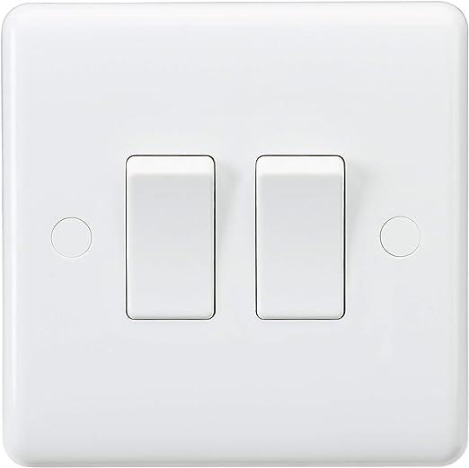 Knightsbridge CU3000 Interruptor de 2 v/ías Color Blanco 10 A, 2 Canales