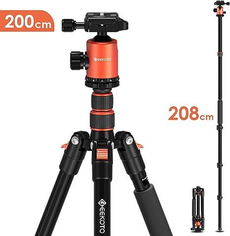 Geekoto - Trípode para cámara de 200 cm, trípode monopié portátil ...