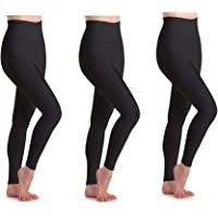 IZY 3 Pack Women's High Waist Yoga Pants, Tummy Control Yoga Leggings, 4 Way Stretch Workout Running Tights