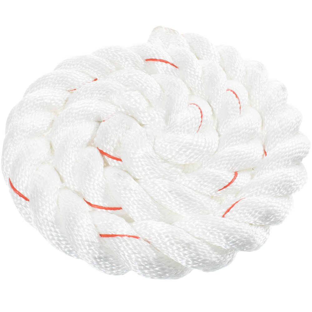 White with Red Tracer 500 3//8 Twisted 3 Strand PolyDac Combo Utility /& Towing Rope 250 300 3//4 1//2 5//8 2 inch Diameters in 10 25 100 600 Feet 50 1-1//2 1