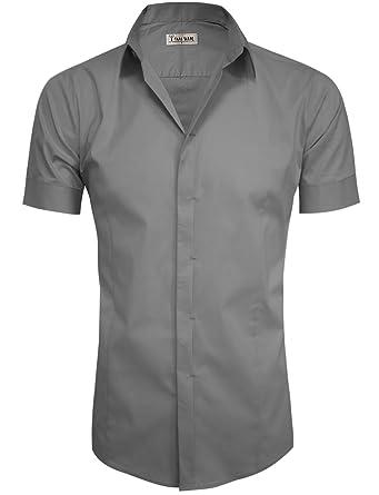 41e40958cae Tam ware mens hidden button short sleeve dress shirts at amazon jpg 341x445 Hidden  shirts