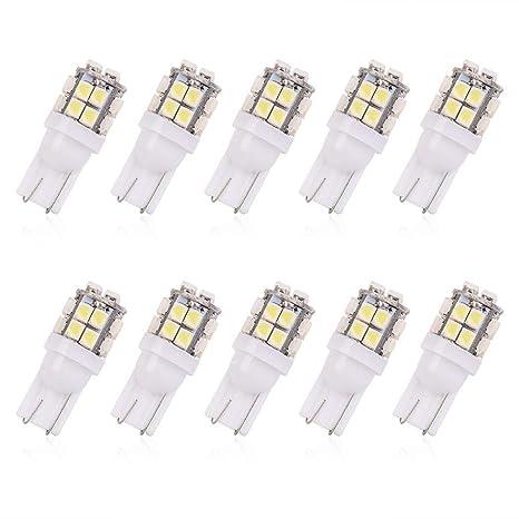UKMASTER Lot de 10 Ampoules LED T10 20 SMD 3528 1210 Super Brillantes pour /éclairage de Plaque dimmatriculation Blanc