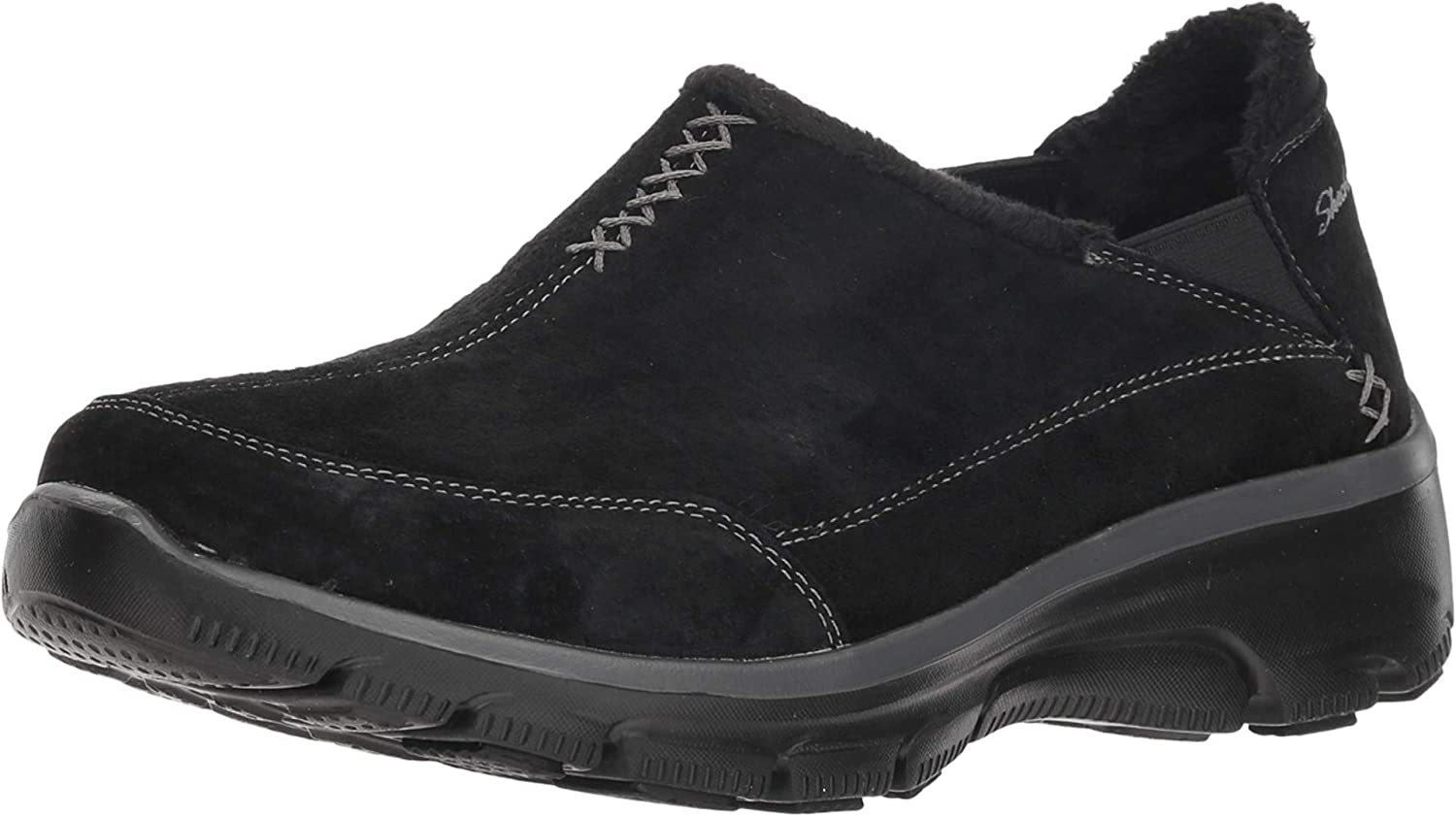 Skechers Women's Easy Going-Hive-Twin Gore Shootie with Faux Fur Trim Loafer