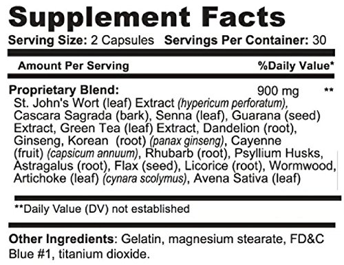 Detox, Digestive Tract Health Dietary Supplement, Full Body Cleanse, Liver Cleanse, Colon Cleanse, Kidney Cleanse, Psyllium Husk Capsules, Dandelion Root Capsules - DDOT Supplements