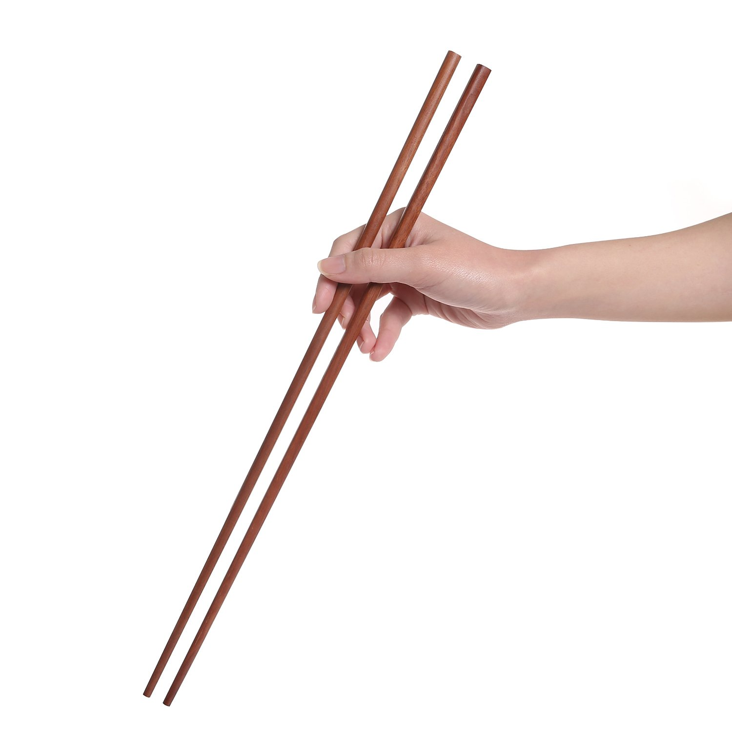 Donxote Wooden Noodles Kitchen Cooking Frying Chopsticks 16.5 Inches Brown Extra Long Set of 2 Pairs
