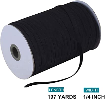Elastic Band Elastic Rope//Elastic Cord Heavy Stretch High Elasticity Knit Elastic Band for Sewing Crafts DIY Bedspread Cuff White, 40-Yards Length, 1//4 Width