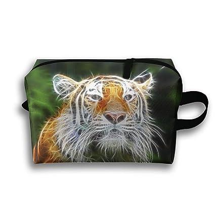 Pengyong Tiger - Bolsa de aseo para viaje, diseño de tigre fluorescente
