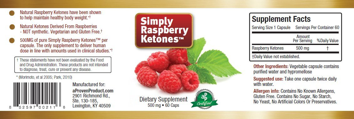 Simply Raspberry Ketones (tm) (3-Pack)