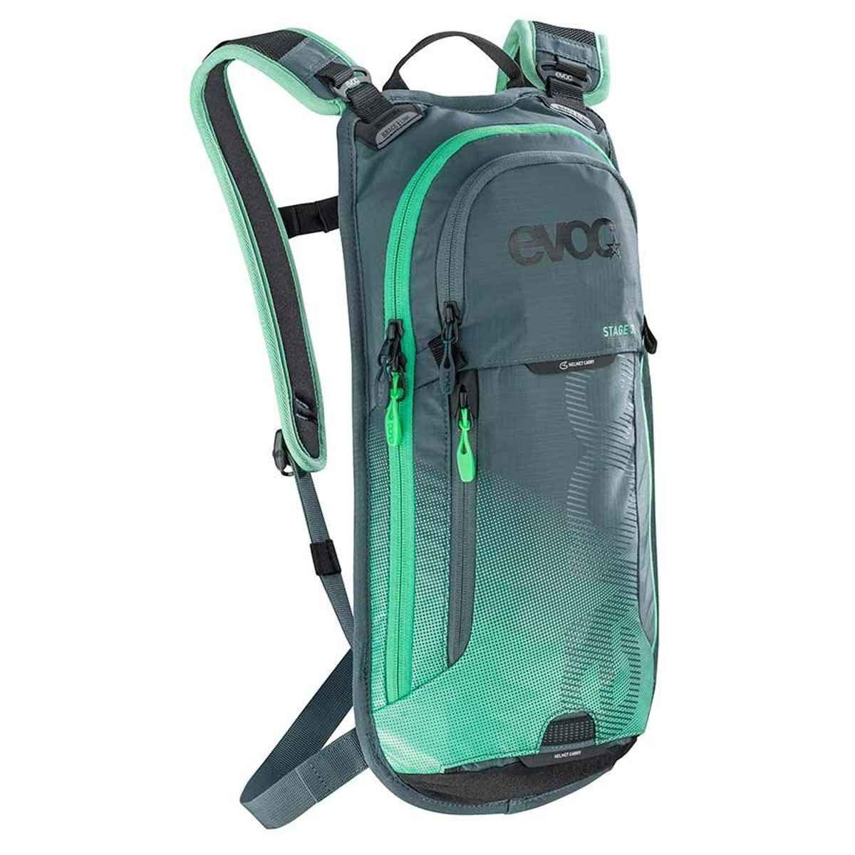 Evoc slate-neon-greenステージ – 3 Litre Hydration Pack with Reservoir (デフォルト、緑)   B073WDZQWZ