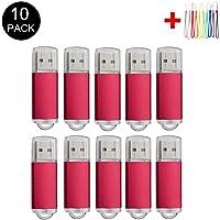 10PCS 2.0/3.0 USB Flash Drive Pen Drive Memory Stick Thumb Stick Pen Black 2.0/2GB Red