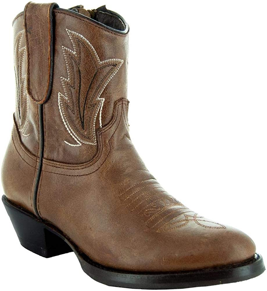 Womens Western Ankle Cowgirl Boots