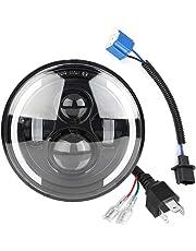 Duokon Luz LED de ojo de ángel para automóvil, 150W 7 pulgada Redondas de haz alto/bajo Luces diurnas DRL Lámpara de luz de señal de giro