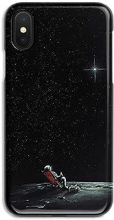 ERQINGT Etui pour Téléphone Portable Personality pour Iphonexsmax Mobile Shell Apple XR Coque Rigide 8Plus Demi-Pack 7 Brillant 6S Noir Mat