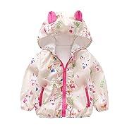 Yamally Cute Newborn Baby Girls Long Sleeves Hooded Jackets Coat Kids Outwear Clothing (6M, Beige)