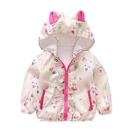 71fa38039 Amazon.com: Newborn Girl Autumn Coat,Jchen(TM) Baby Kids Girls Long Sleeve  Cartoon Ear Hooded Jacket Coat Outwear for 0-24 Months (Age: 6-12 Months,  ...