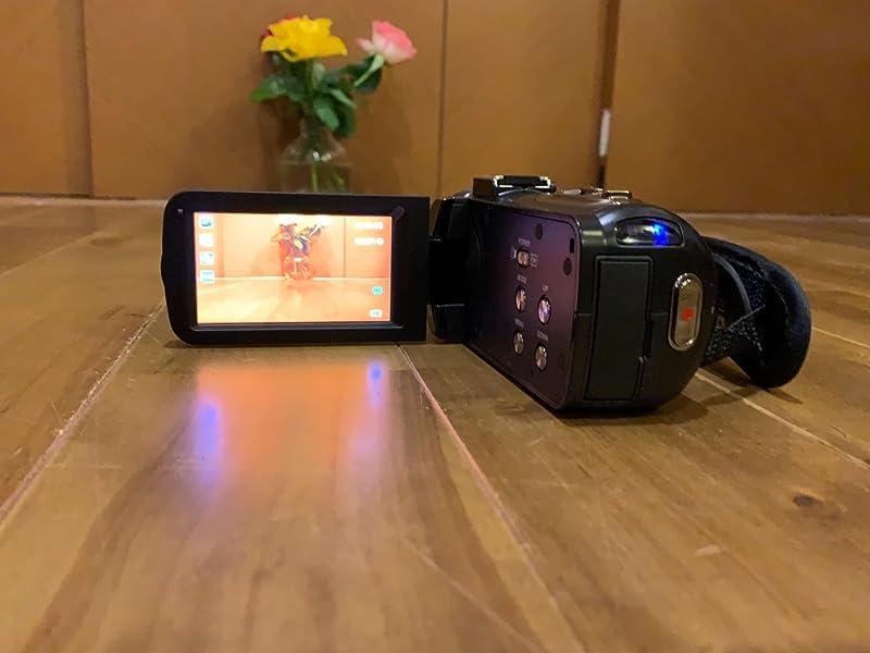 Kenuo-HDビデオカメラ-デジタルビデオカメラ-2400万画素-16倍デジタルズーム
