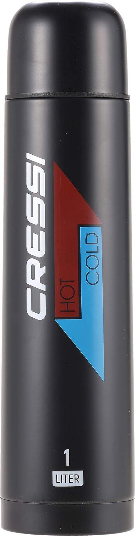 Cressi Stainless Steel Thermal Flask 1 Botella térmica de Acero Inoxidable para Deportes, Unisex-Adult, 1L