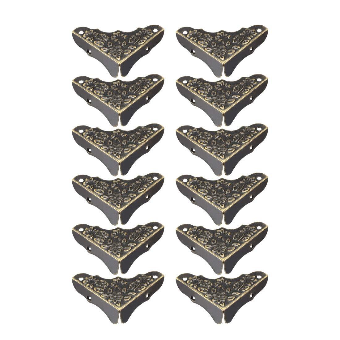 a19081200ux0089 8 St/ück. 39 x 39 x 8 mm uxcell Tischkantenschutz aus Metall