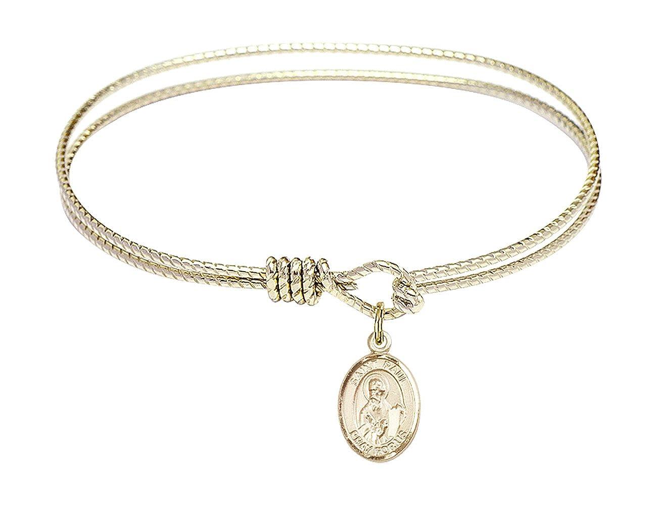 Paul The Apostle in Gold-Filled Bonyak Jewelry Oval Eye Hook Bangle Bracelet w//St