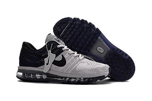 Huelga ayudante peor  Buy Nike AIR MAX 2017 Mens Black/GreyRunning Sports Shoes 849560-412 at  Amazon.in