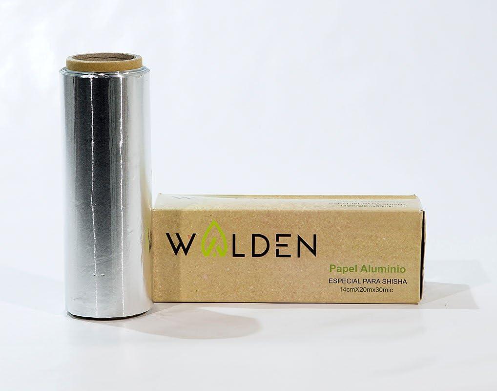 Papel de Aluminio Especial para Shisha o Cachimba (30 micras) - 1 Rollo con 20 MTS - Marca: Walden