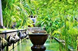 Home Comforts LAMINATED POSTER Statue Stone Bali Fountains Ubud Indonesia Poster 24x16 Adhesive Decal