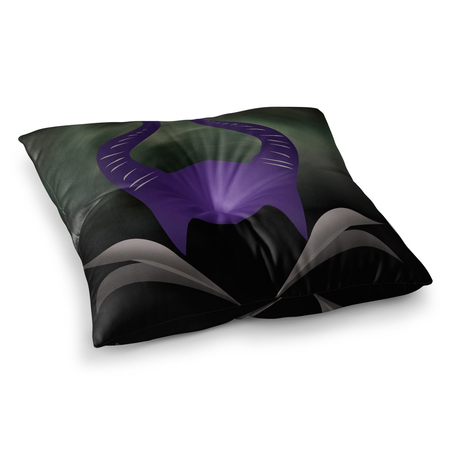 23 x 23 Square Floor Pillow Kess InHouse Kess Original Dark Fairy