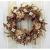 Autumn Cotton Fields Fall Decorative Wreath Front Door Indoor Seasonal Autumn Home Decor