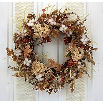 Amazon Com Nearly Natural 4648 Harvest Wreath Fall 28