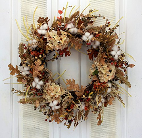 Fall Cotton Fields Wreath
