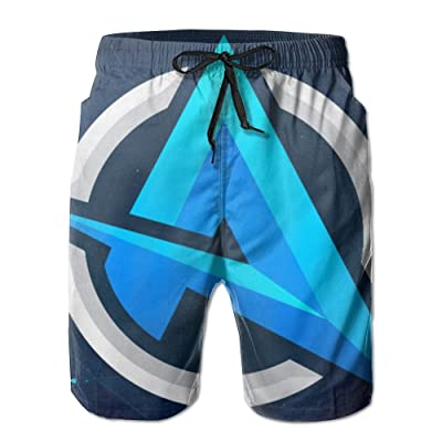 Ali A Youtube Men Summer Surfing Quick-Drying Swim Trunks Shorts Beach Pants with Pocket