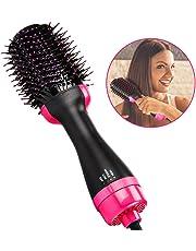 Ridioo 2-en-1 peine de cabello de ion infrarrojo plancha de aire caliente y peine rizado de doble uso secador de pelo en forma