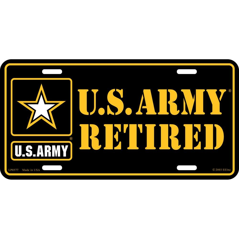 Army Retired License Plate FindingKing U.S
