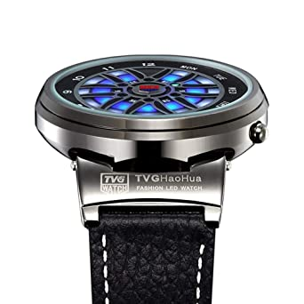HWCOO TVG Reloj BMW X6 Reloj LED Reloj electrónico Reloj de los Hombres (Color :