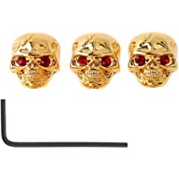 Timiy 3pcs Skull Head Knob Volume Tone Control Knob for Guitar (Gold)