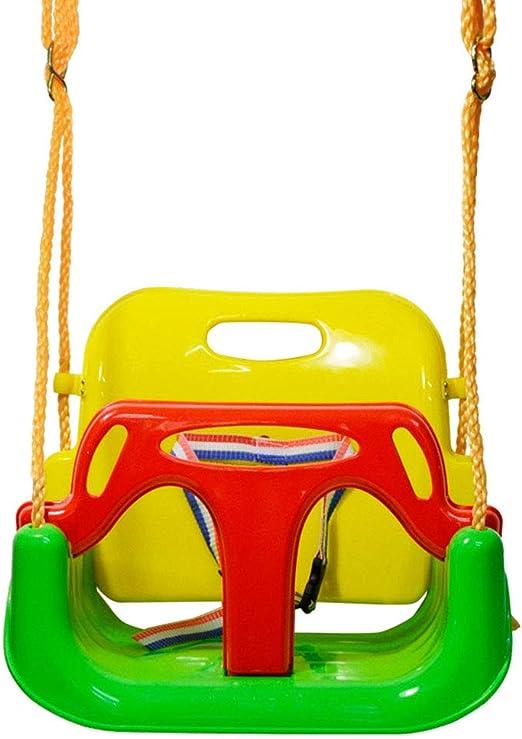 SZPDD Juguete con Asiento de Columpio para bebés 3 en 1, Columpios con Respaldo Alto para niños, con mosquetón y Kits de Montaje de Cuerda de conexión, Green: Amazon.es: Jardín