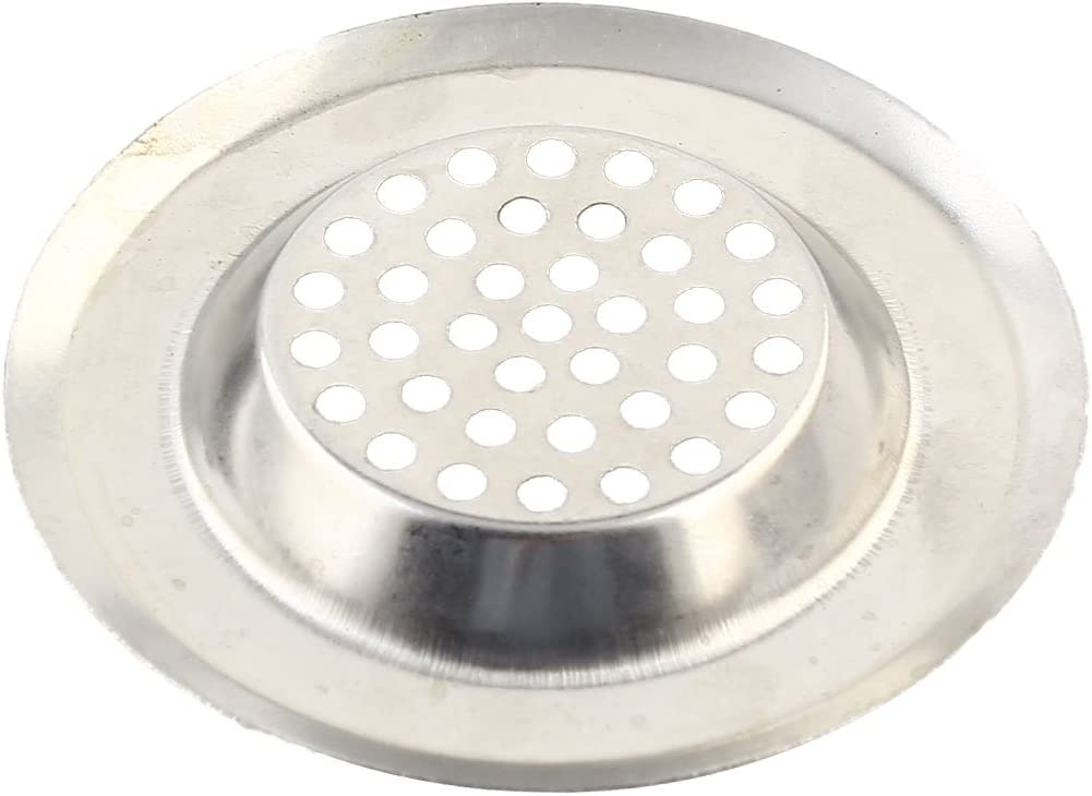 Kitchen Bathroom Metal Round Shaped Sink Basin Garbage Strainer Stopper 4 Pcs