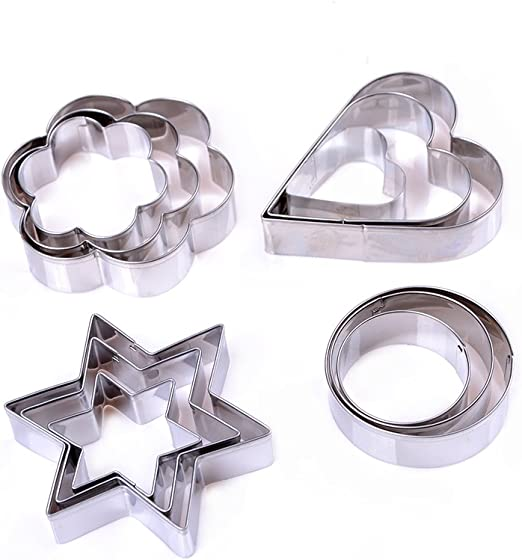 Baking Star Shape Stainless Steel Cookie Biscuit  Cutter Mold 3 Size