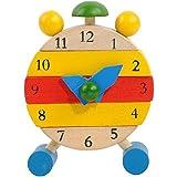 Koly® Hecho a mano Reloj de madera; Juguetes para Niños Aprenda Time Clock Juguetes educativos