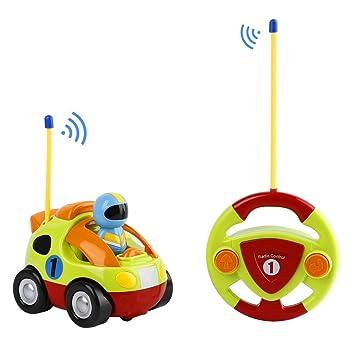 033e5dfa8 FPVRC Coches Teledirigidos 2 Canales RC Juguetes Radio Control Remoto de  Coche Tren con Música y Luces para Bebés Niños de 18 Meses+ (Verde):  Amazon.es: ...