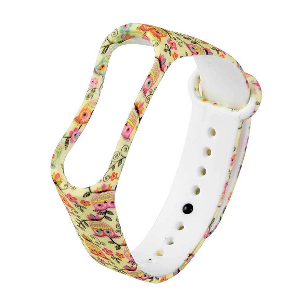 Ikevan 1 Replacement Wristband Wrist Strap For Xiao Mi Band 3 New Fashion Pattern (F)