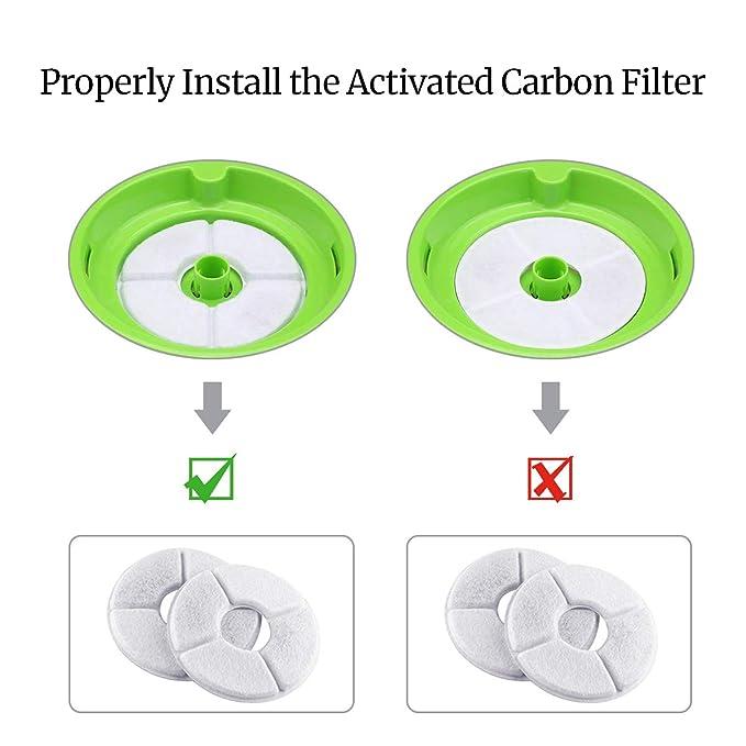 ... filtros de repuesto, filtros de dispensador de agua de carbón activado paquete DE 4, Compatible con mascota Flor Fuente de agua para Perros y Gatos ...