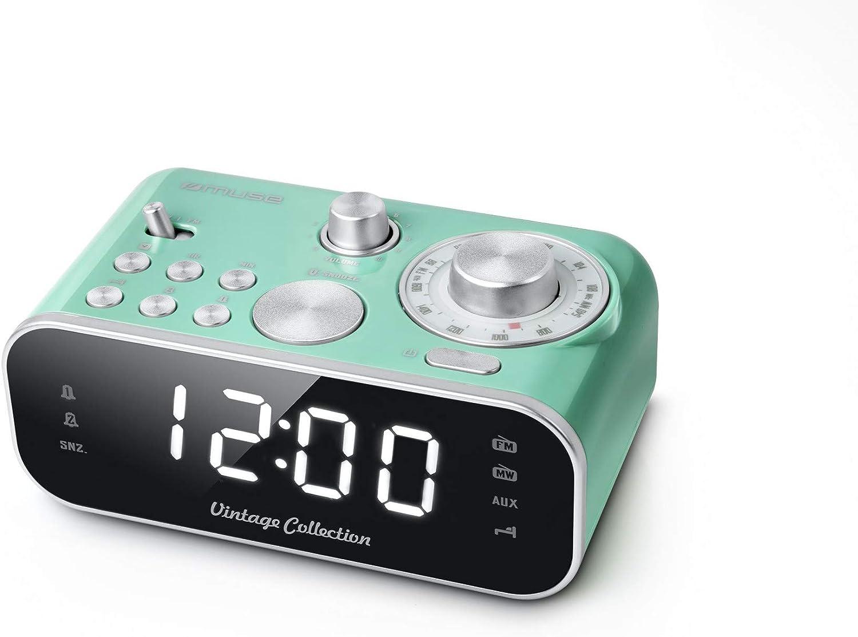 MUSE M-18CRG - Radio (Reloj, Analógica, FM,MW, 88-108 MHz, 540 ...