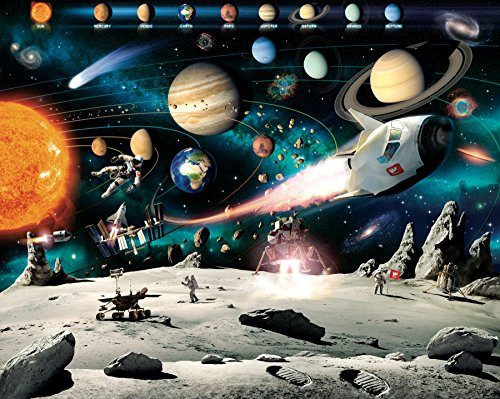Walltastic WT41837 Space Adventure Wall (Outer Space Wall Mural)