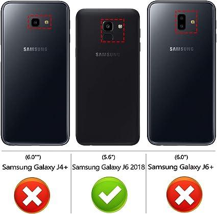 Peakally Funda Samsung Galaxy J6 2018, Negro TPU Suave Funda para ...