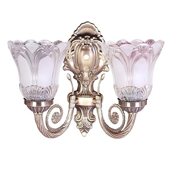 Sanleen Antique Portuguese Style Double Lamp with 5W Led Bulb - Multicolour