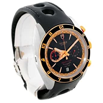 5c95d646ee7 Image Unavailable. Image not available for. Color: Tudor 20551N-LTHR/BLK  IND Grantour Chrono Flyback Men Leather Watch