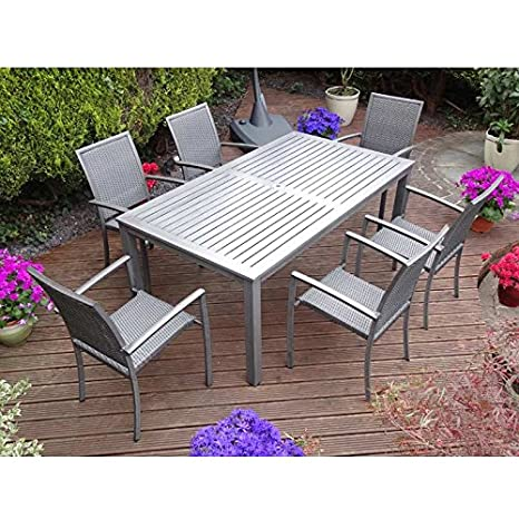 Rondeau Leisure Aranda aluminio 6 sillones 180 cm ...